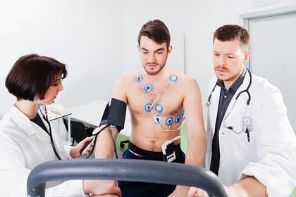 Patient undergoing stress test