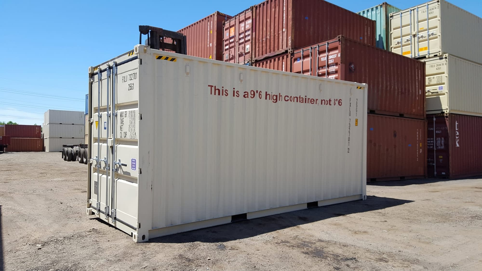 TRS Containers sells and fabricates new 20 foot highcube containers which cannot be mounted on a chassis