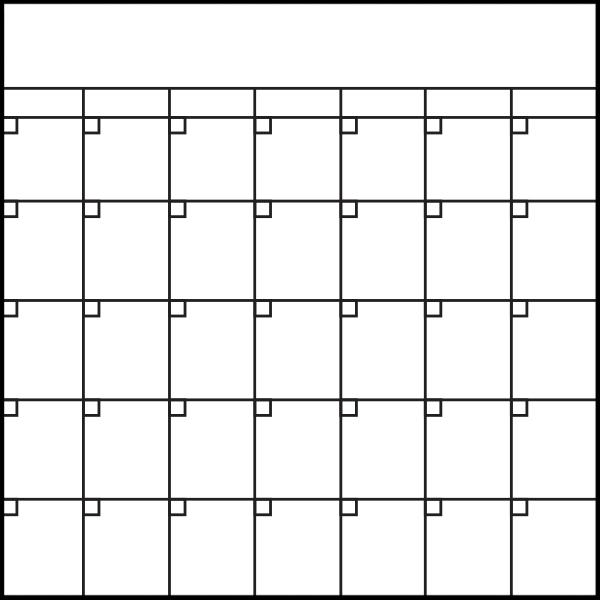 Custom Graphic Board - Calendar