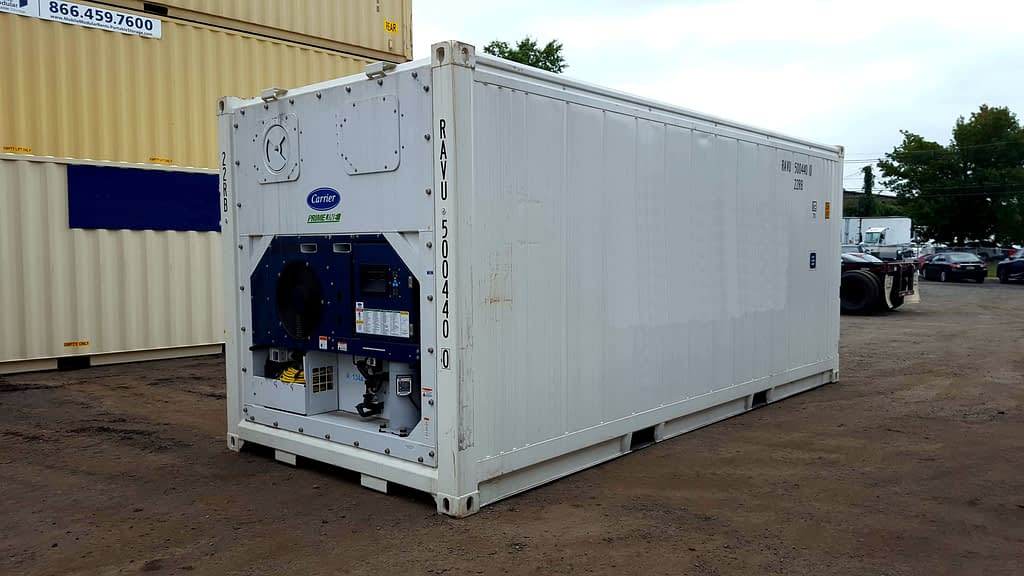TRS Containers has new 20 foot long and 40 foot long new running reefers for sale