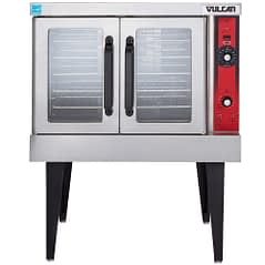 Vulcan VC4GD-1 1D150K Natural Gas Single Deck Full Size Gas Convection Oven with Solid State Controls and Legs - 50,000 BTU