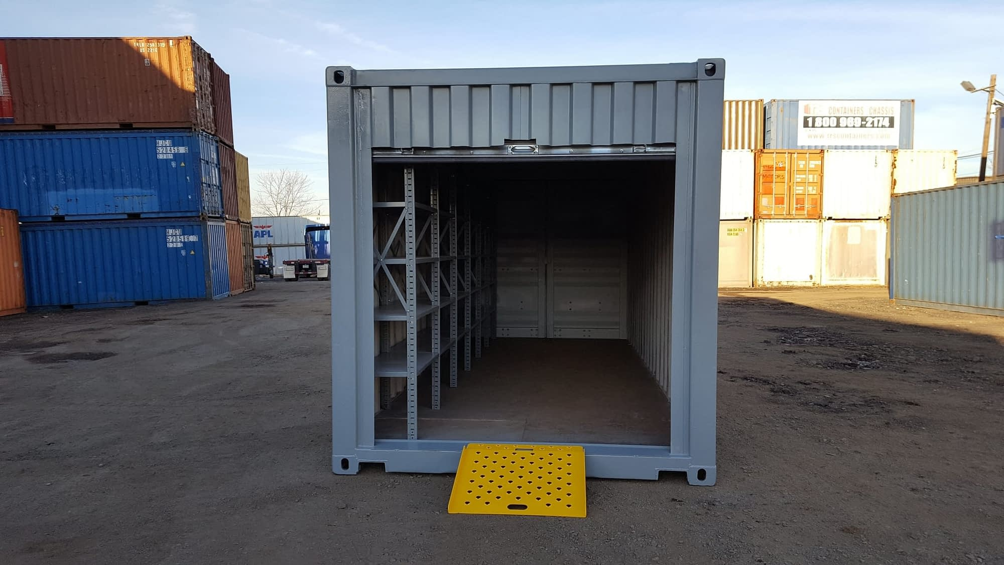 TRS Containers modifies standard steel ISO shipping containers into portable modular equipment solutions