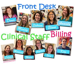 Collage Of Front Desk, Billing, And Clinical Staff Photos