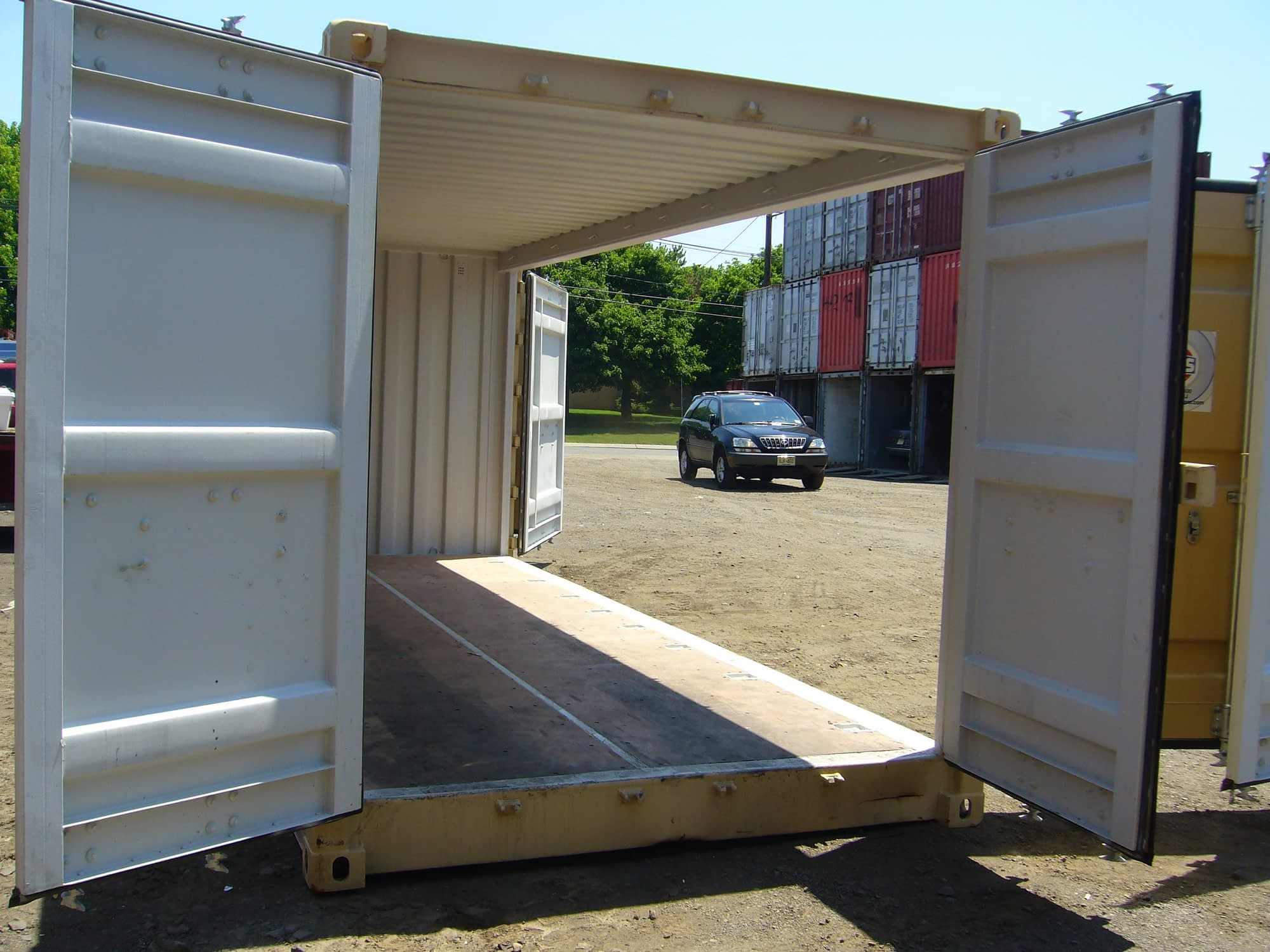 TRS Containers stocks and sells new openside shipping containers. 8'6' or 9'6' H