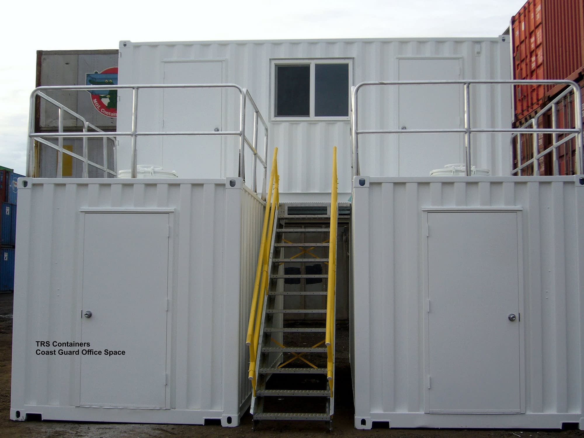 TRS Containers can construct a training center to a 2-storry mall from steel shipping containers