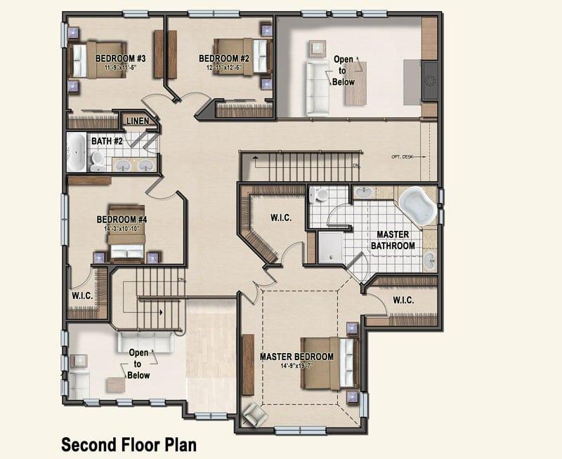 Plan 6 second floor plan