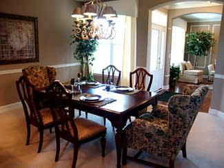 Fairway Model Home Dining Room