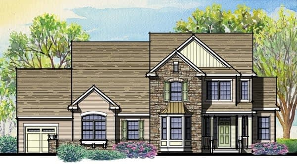 Sketch of Fairway Model Single Family Home
