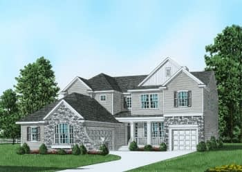 Plan 4 Traditional House Drawing Easton, PA