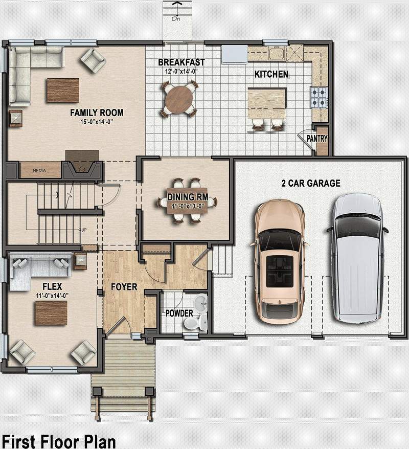 Traditional classic first floor plan
