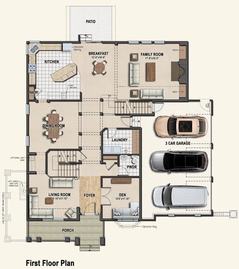 Plan 6 first floor plan