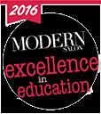 2016 modern salon excellence in education logo