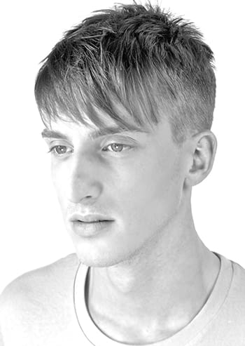 man with sideswept hair