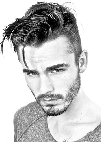 man with stylish hair