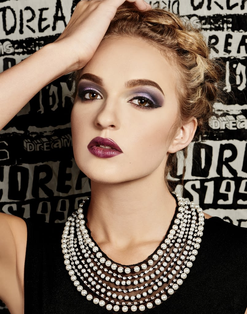 high fashion woman with high fashion makeup