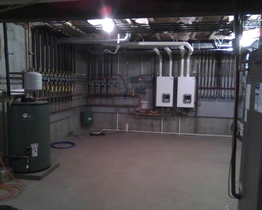 water heater in boiler room