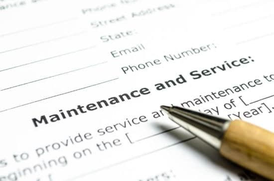 Maintenance and Service Agreement with Pen