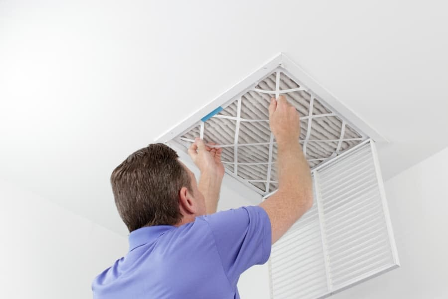 Home Air Filtration Installed in Vent