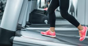 Woman Running on Inclined Treadmill