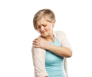 Woman With Pain in Shoulder