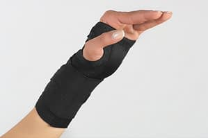 Hand And Wrist In Brace