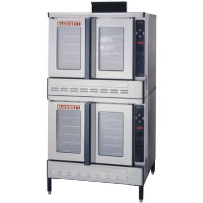 Blodgett DFG 100 ES Premium Series Liquid Propane Double Deck Full Size Convection Oven With Draft Diverter