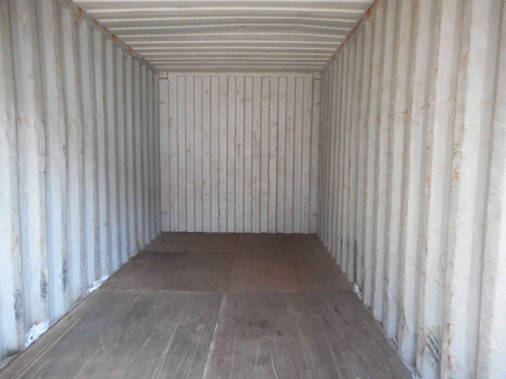 TRS Containers Grade B interior of a 20 long steel rental container
