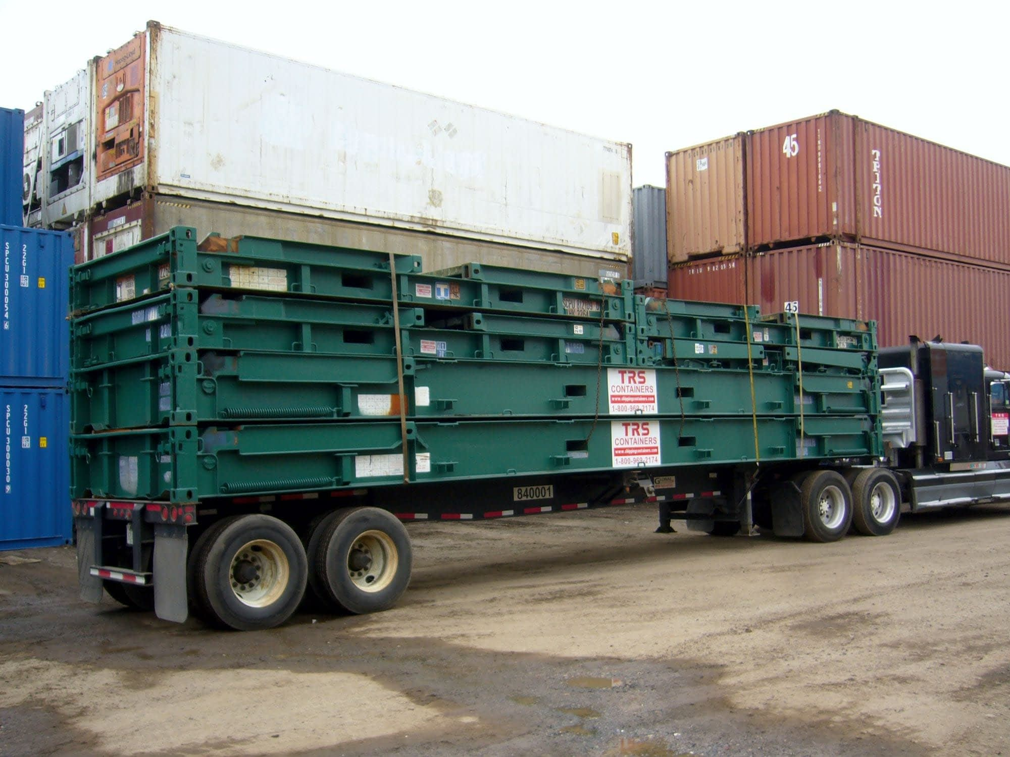 TRS sells and rents flatracks for domestic use and export