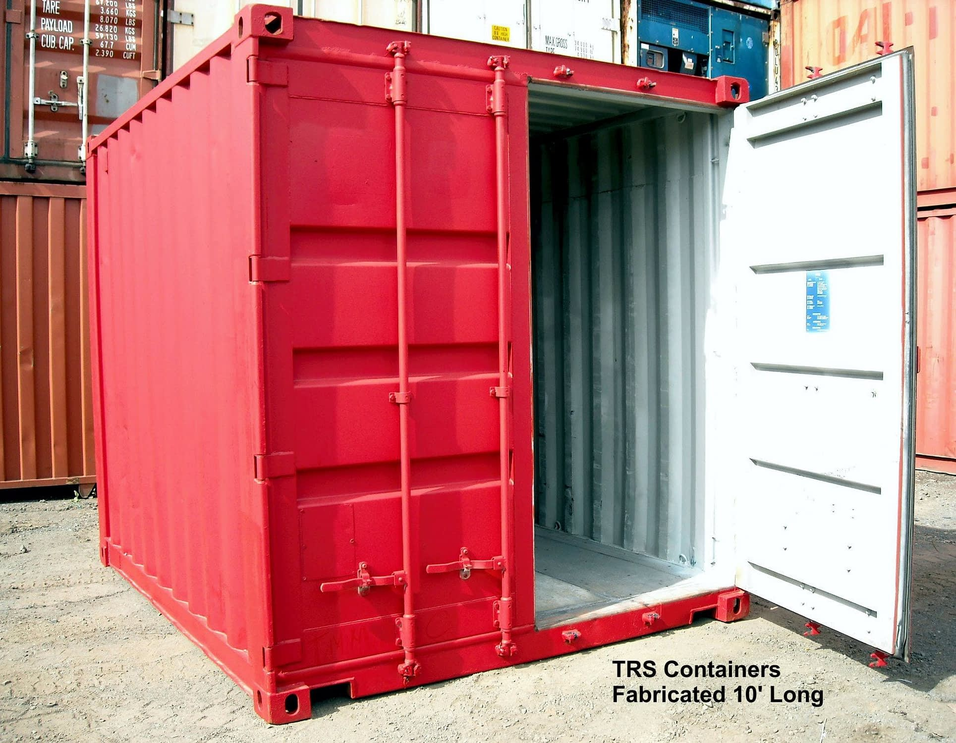 TRS Containers sells, rents and modifies 10 foot long steel containers for the construction industry.