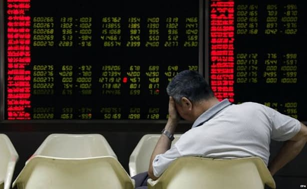 China – The stocks fall in facial expressions