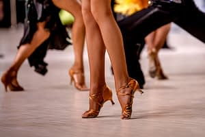 Woman's Legs with Dance Shoes