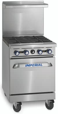 "Imperial IR-4 24"" Restaurant Range with Standard Oven, Natural Gas-155,000 BTU"