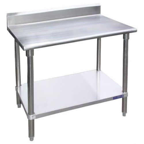 """KCS 24"""" x 24"""" Stainless Steel Work Table with 4 ..."""