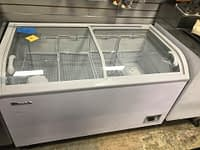 "Blue Air BCF56-HC 56.13"" W Chest Freezer Sliding Glass Doors"