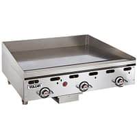 "Vulcan MSA36-101 36"" Countertop Natural Gas Griddle with Snap Action Thermostatic Controls - 81,000 BTU"
