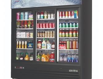 3 Section Glass Door Merchandising Refrigerators