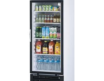 1 Section Glass Door Merchandising Refrigerators