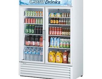2 Section Glass Door Merchandising Refrigerators