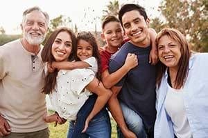 healthy, happy family.