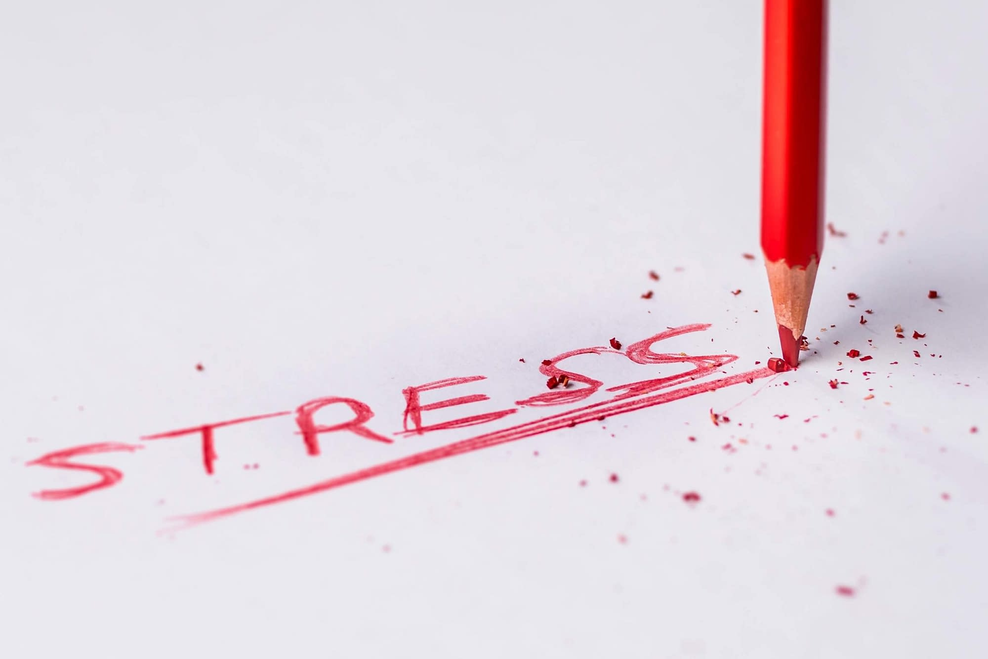 stress in red pencil