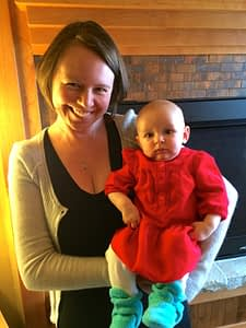 Lindsey with her daughter, Cora