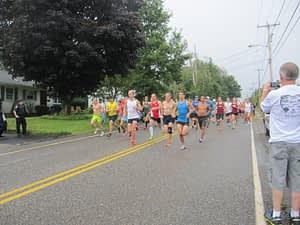 The start of the Devin Kravitz 5K Race