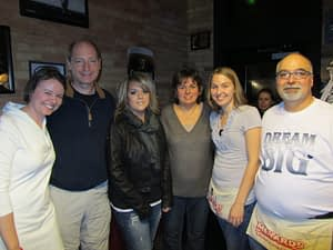 From left to right: Lindsey Davis, Dr. Leslie Cooper, Amy Vanness (Brad's wife), Cindy Vanness (Brad's mother), Jamie Jackson (Brad's sister), and Randy Vanness (Brad's father)
