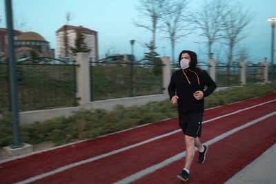 Athlete Running After COVID-19 illness.