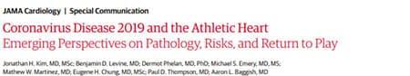 JAMA Covid and Athletes Article Headline.
