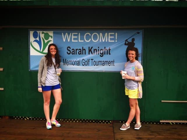 Brooke Bauma (left) and Noelle Zarembski, college friends of Sarah's