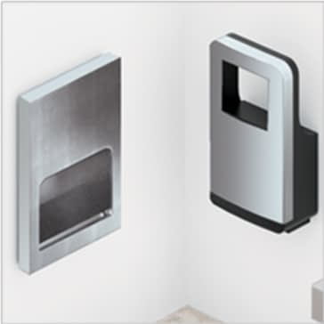 Towel dispenser and hand dryer