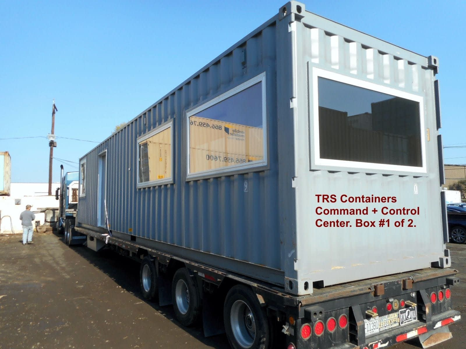 TRS Containers can heavily modify steel shipping containers from your drawings and specs