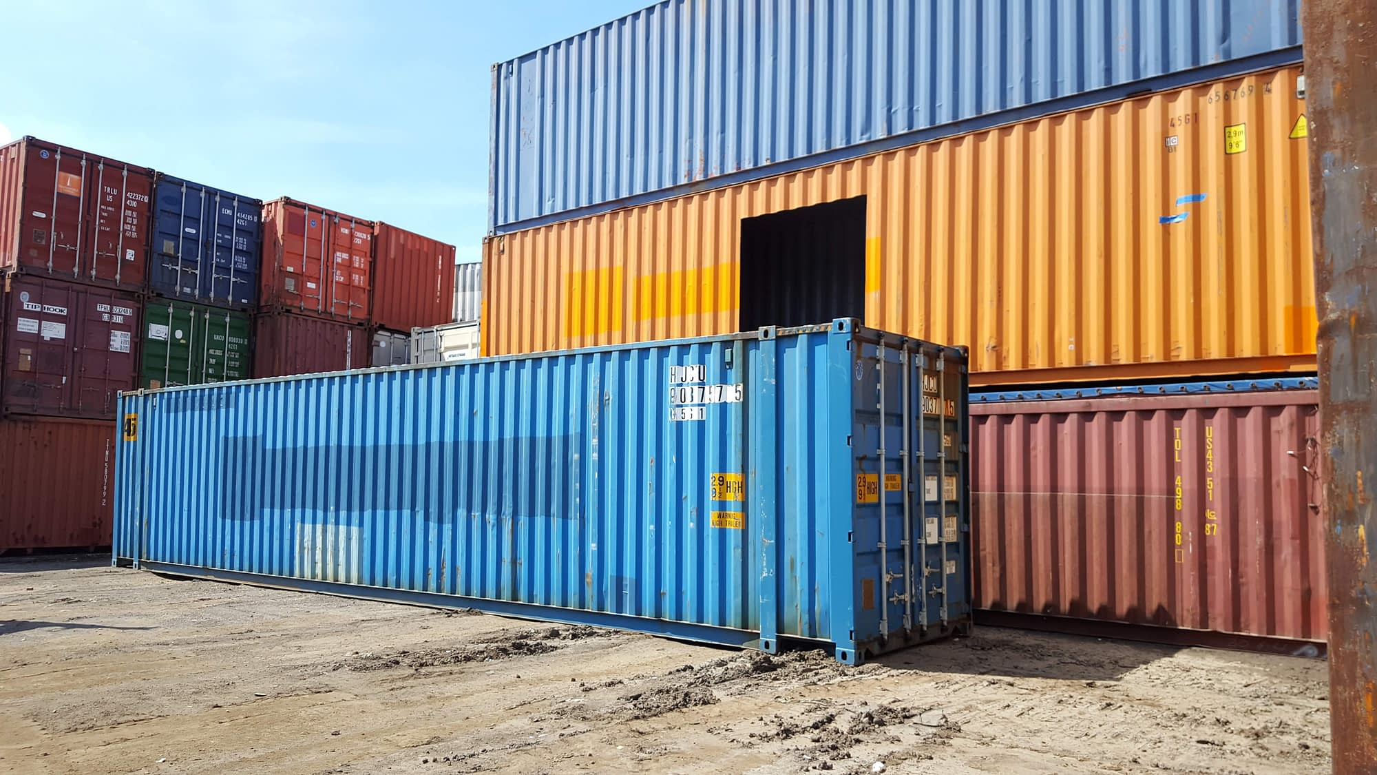 TRS sells + rents new used 45 foot X 9'6' Highcube steel