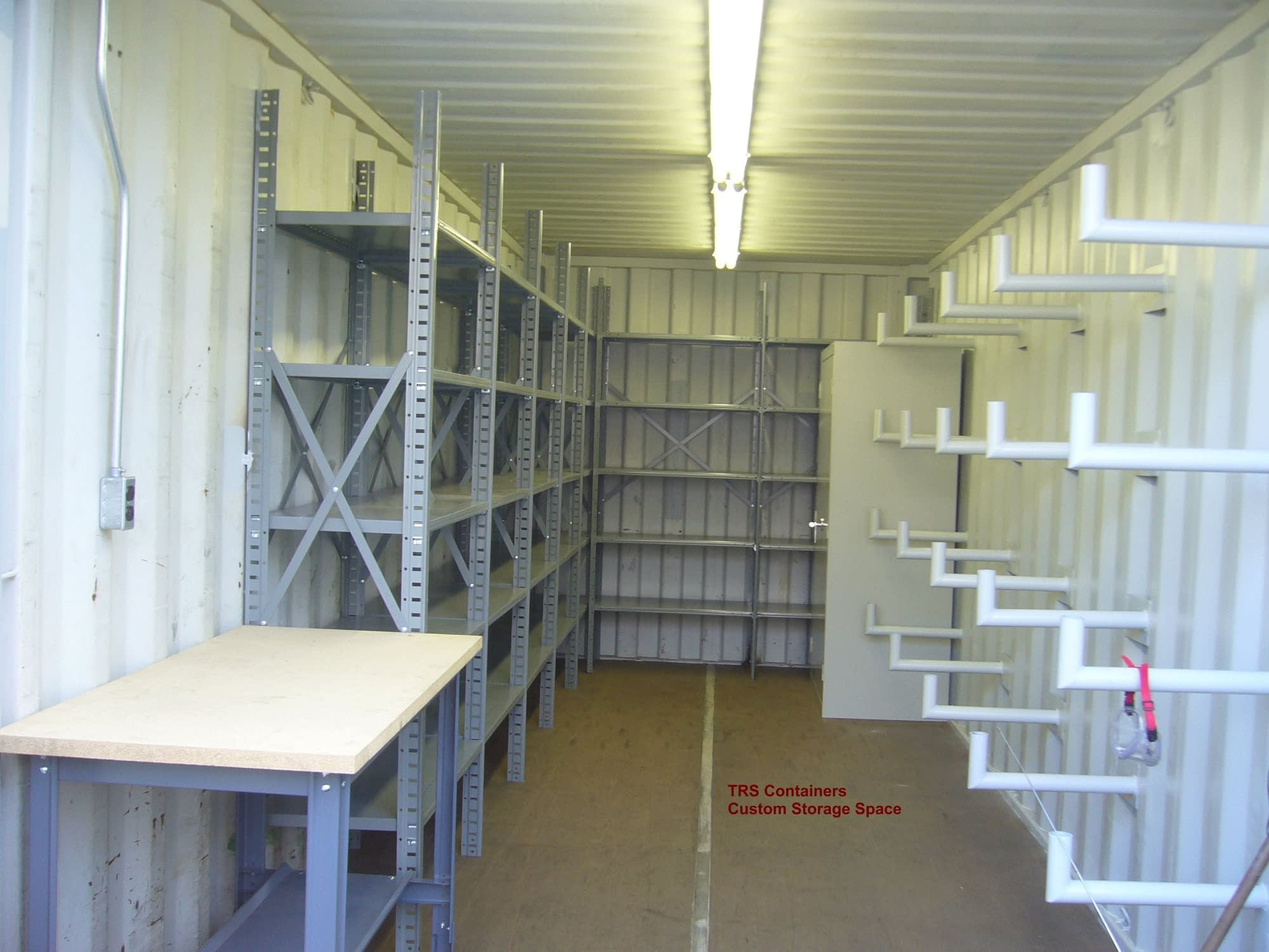 TRS Containers can modify steel shipping containers for custom storage space